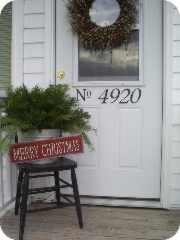 Simple Merry Christmas Greeting Setup