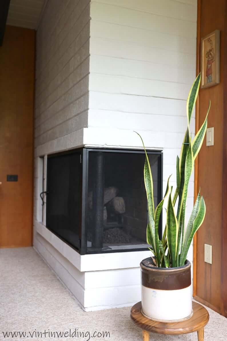 Wrought Iron Steel Fire Screen for Corner Fireplace