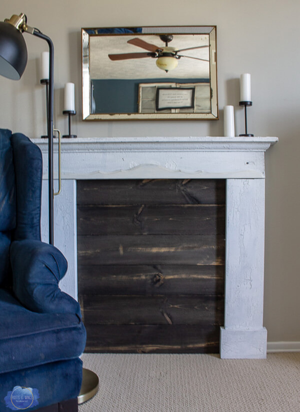 Boarded Up and Beautiful Faux Fireplace