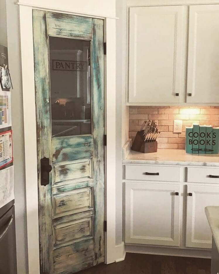 An Eye-Catching Kitchen Pantry Door