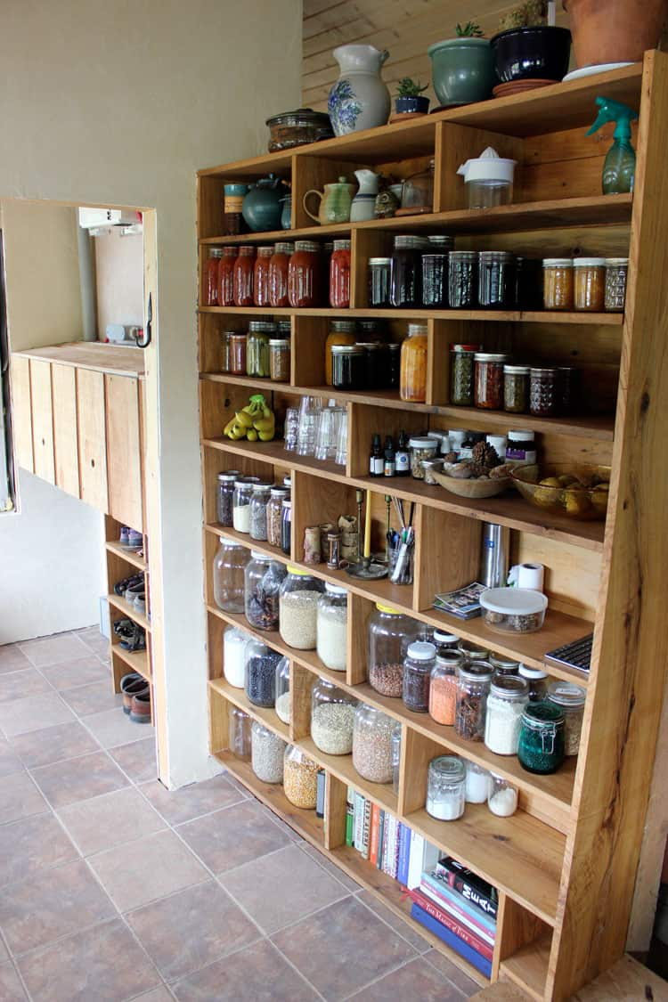 Farmhouse-style, Custom-made, Tiny Home Free-standing Pantry