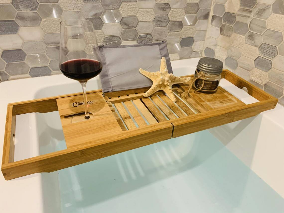 Beautiful and Useful Bamboo Bath Tray