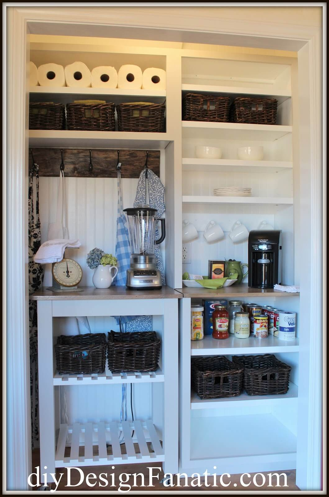 Custom Cabinets for a Transformed Closet Pantry