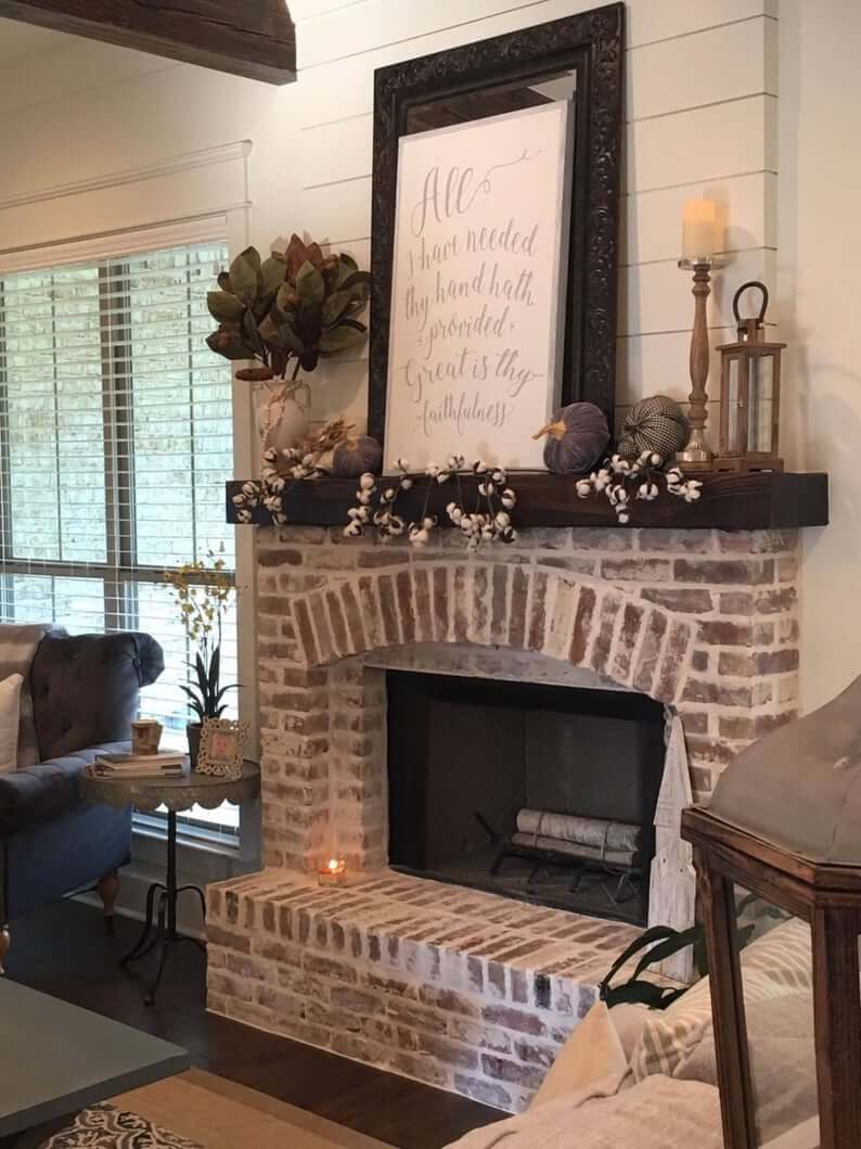 Cute Farmhouse Sign for Your Fireplace Mantle