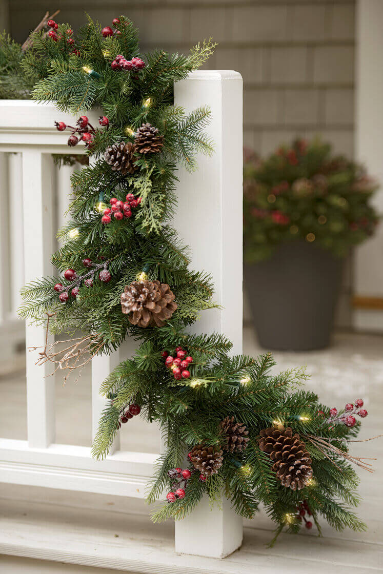 Magical Pre-Lit Faux Holiday Garland