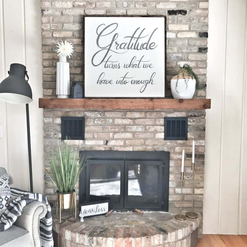 Sweet Handwritten Cursive Sign for Your Mantle