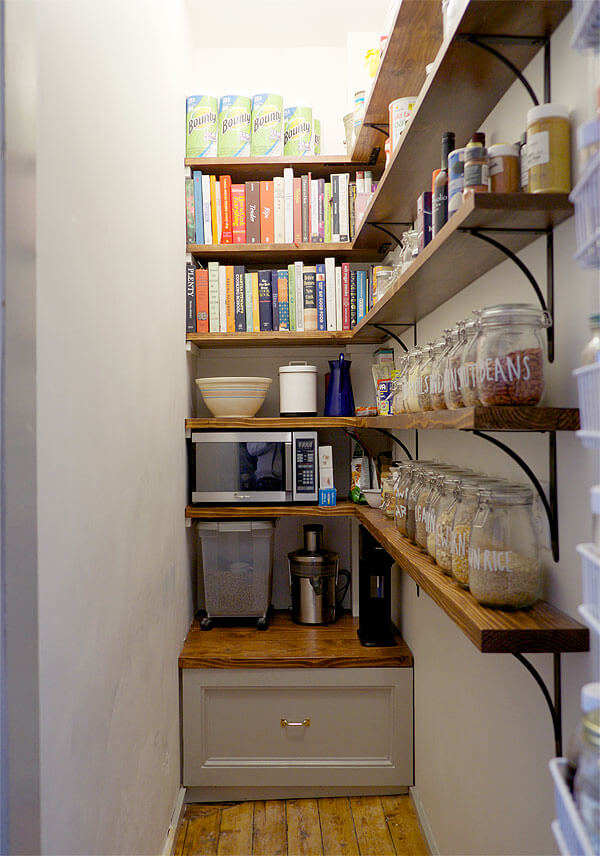 Remodeled Pantry Shelving Ideas