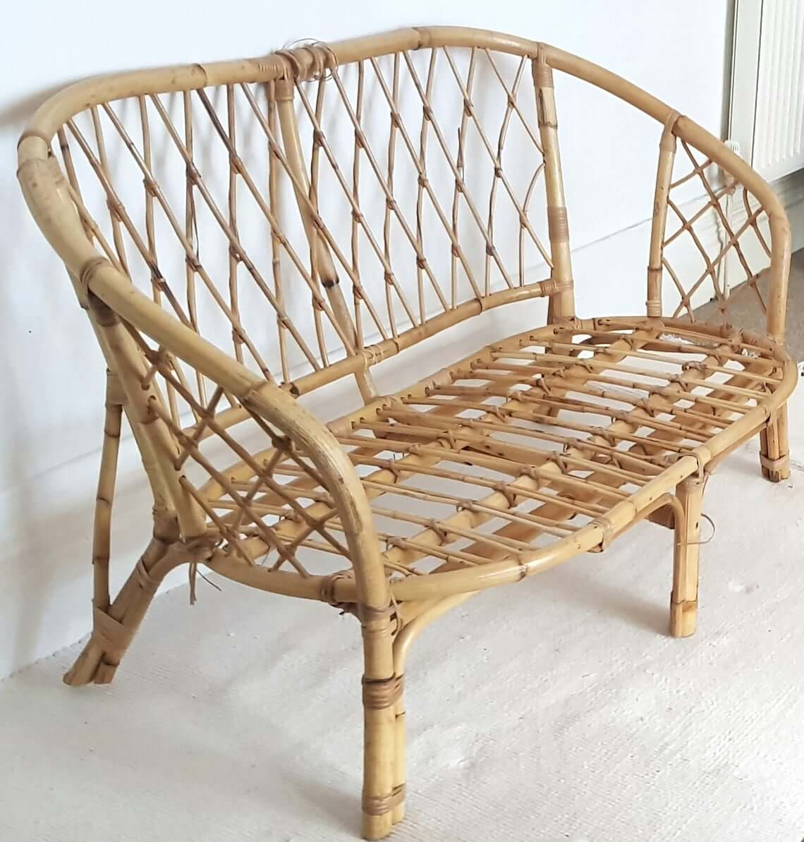All-Natural Bamboo Loveseat for Front Porch