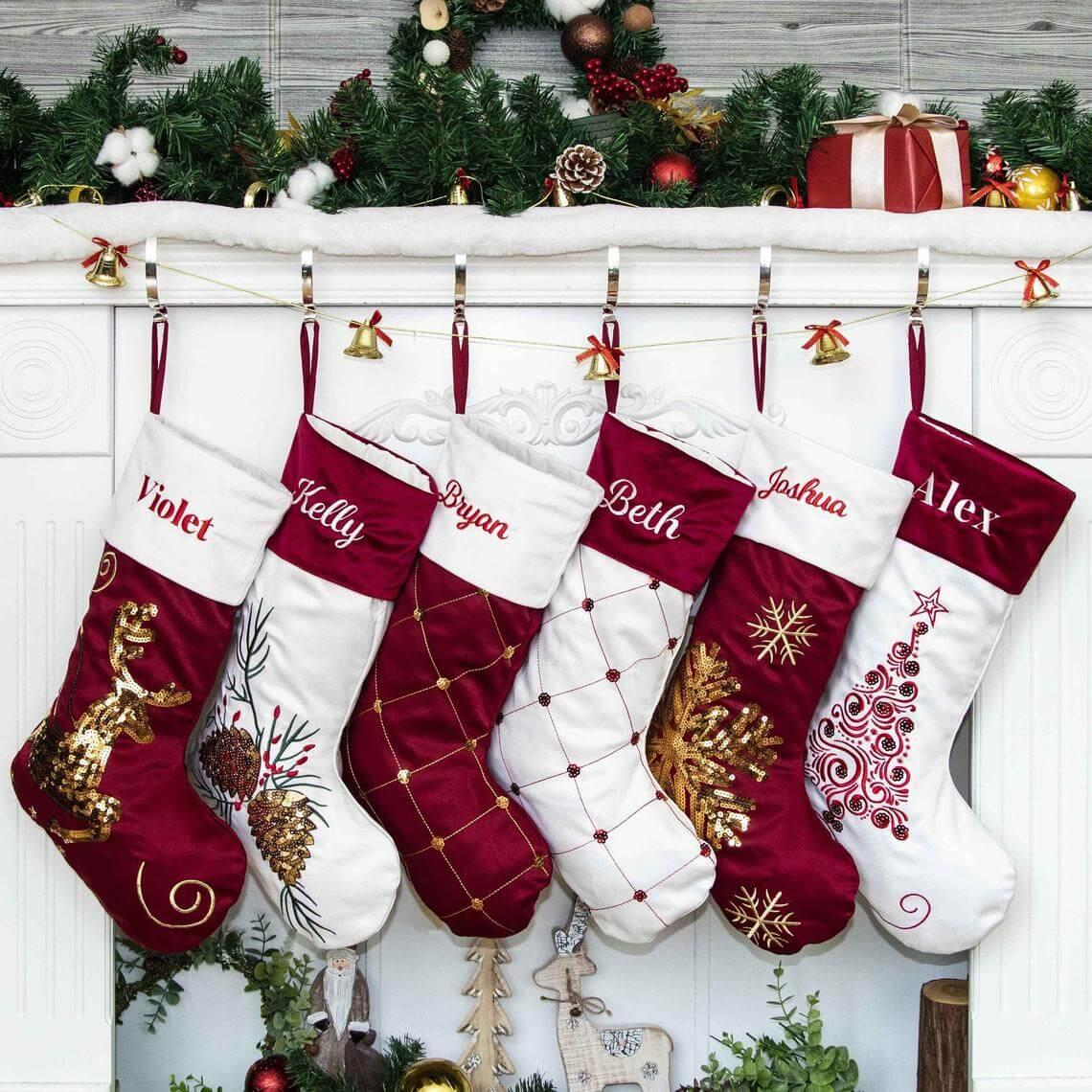 Regal Silk, Velvet, and Sequin Stockings
