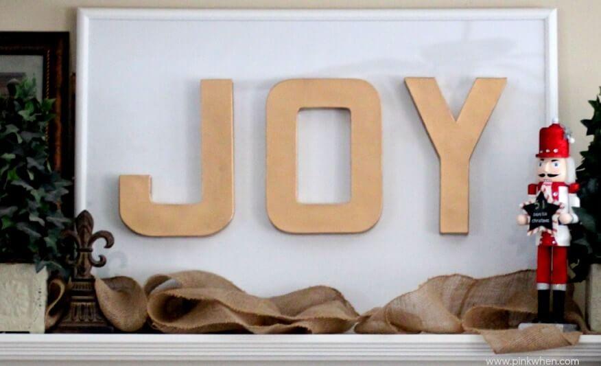 The Modern Minimalist Cardboard Joy Sign