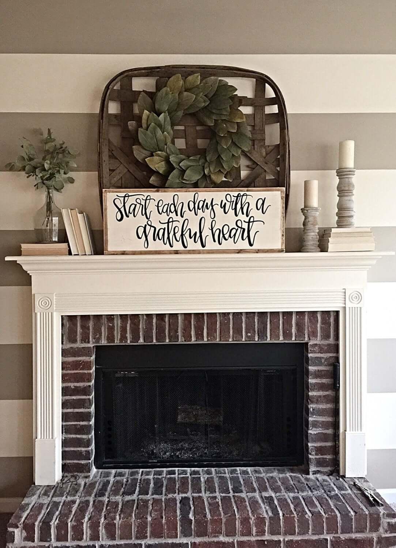 Inspiring Handwritten Sign to Inspire Grateful Living