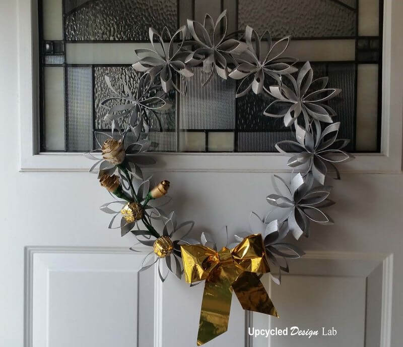 Unique and Simple Silver and Gold Wreath