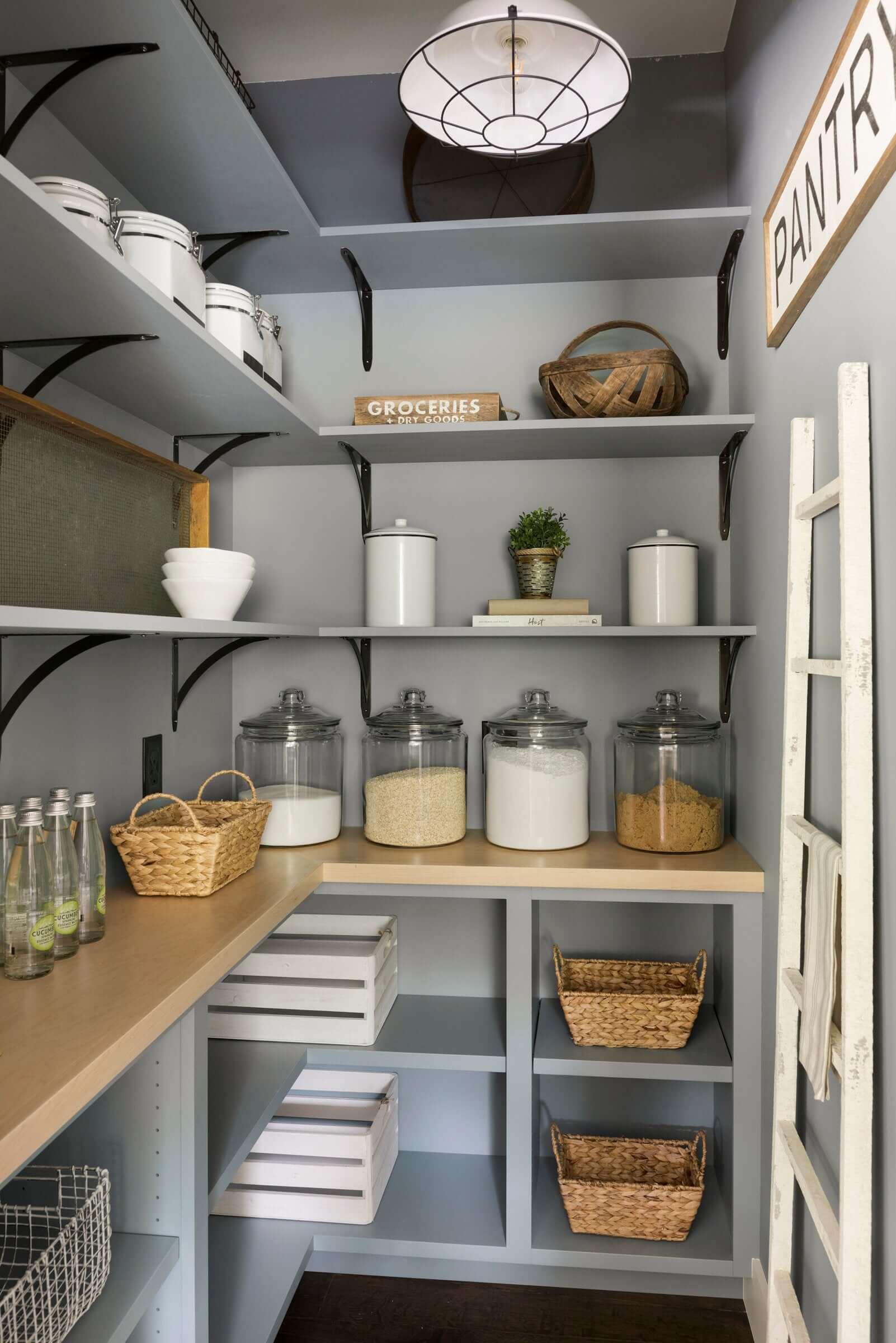 Large Modern French Pantry Shelving Ideas