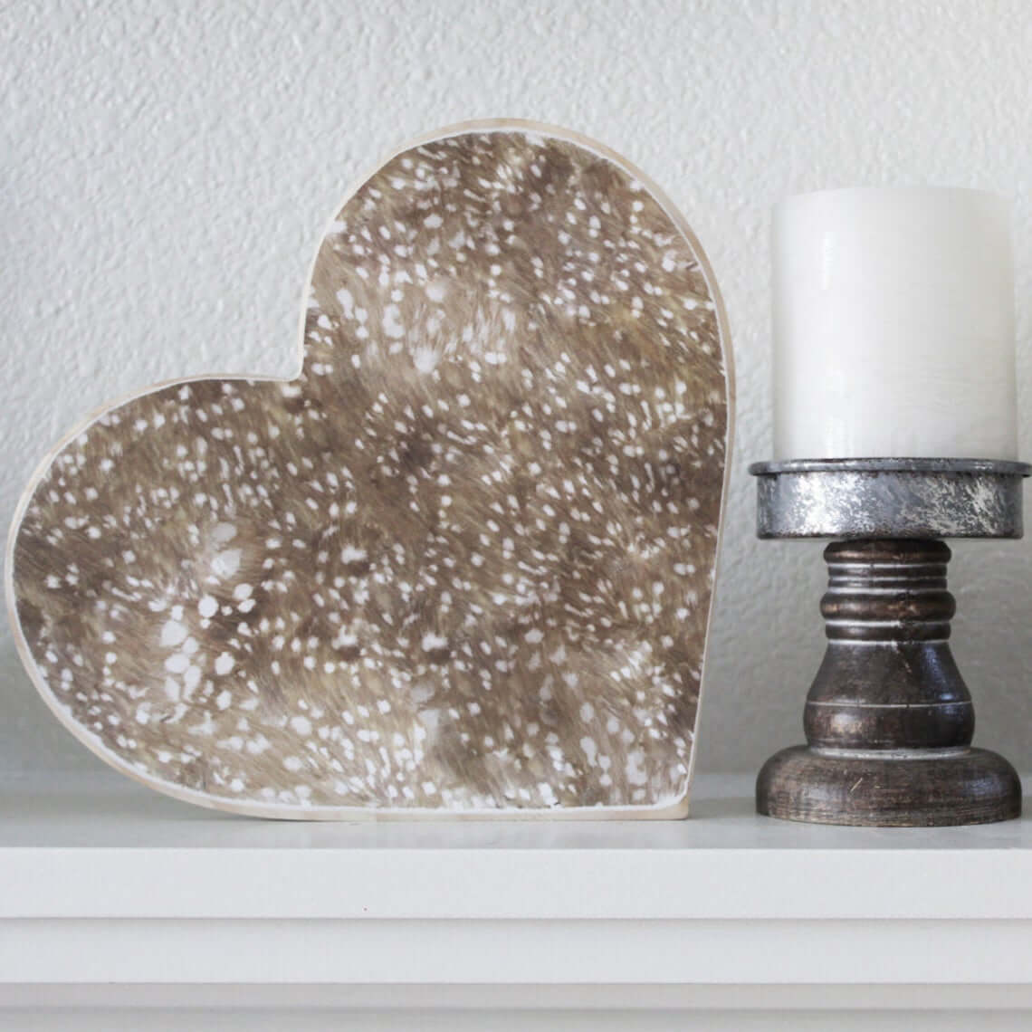 Deerly Beloved Heart Home Accent Piece