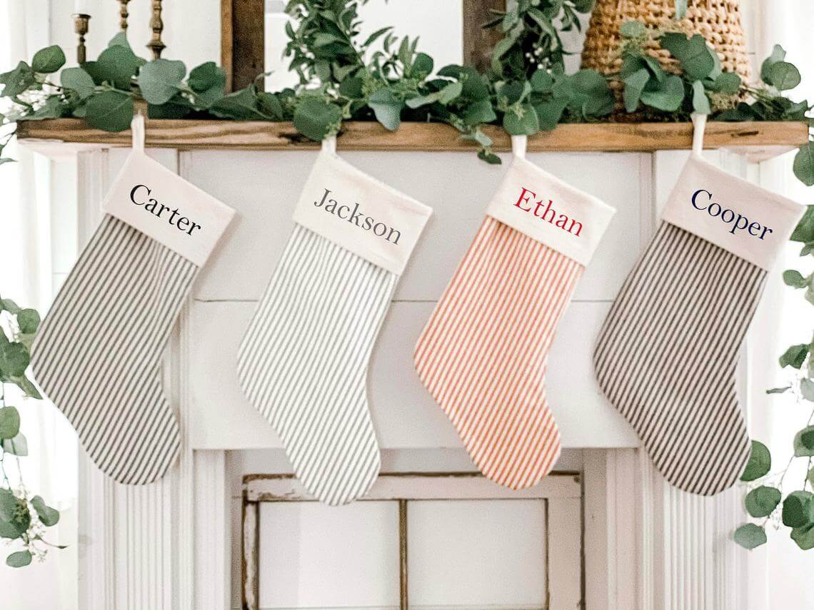 Personalized Stripes in Black, Blue, Gray & Red