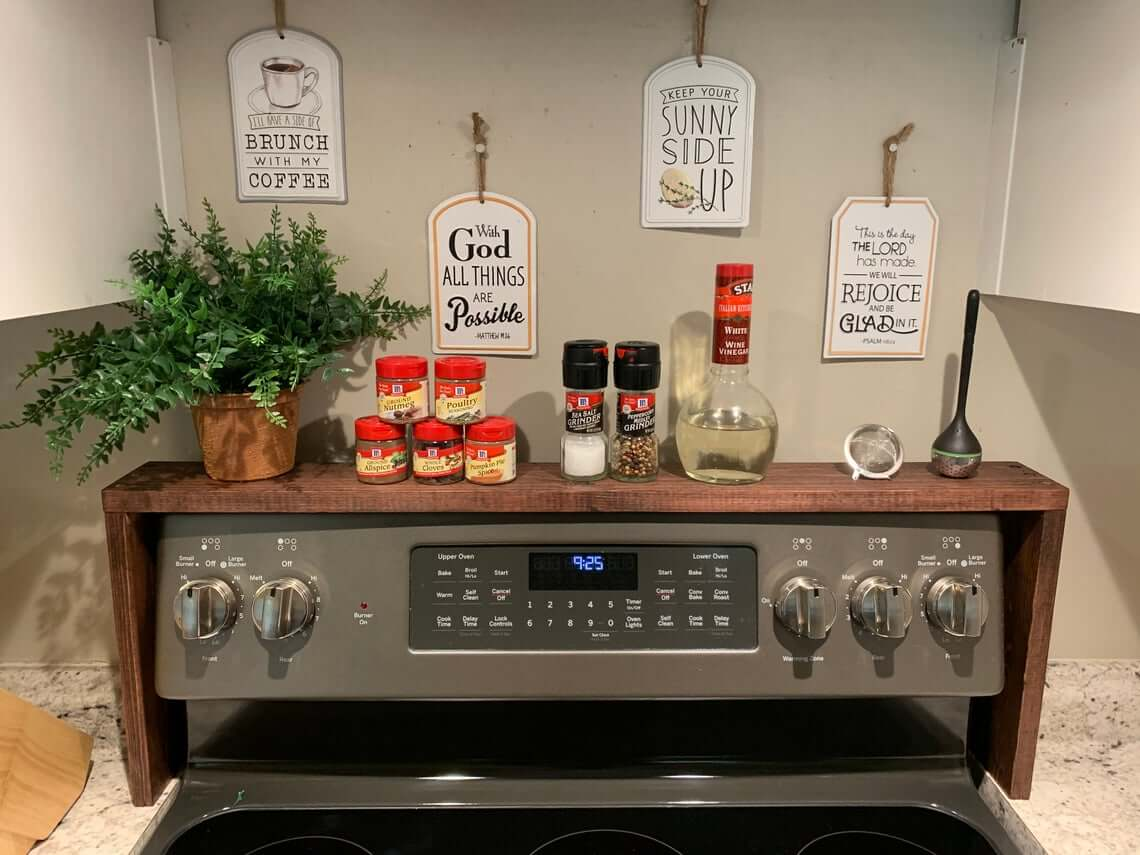 Wooden Small Space Oven Spice Rack