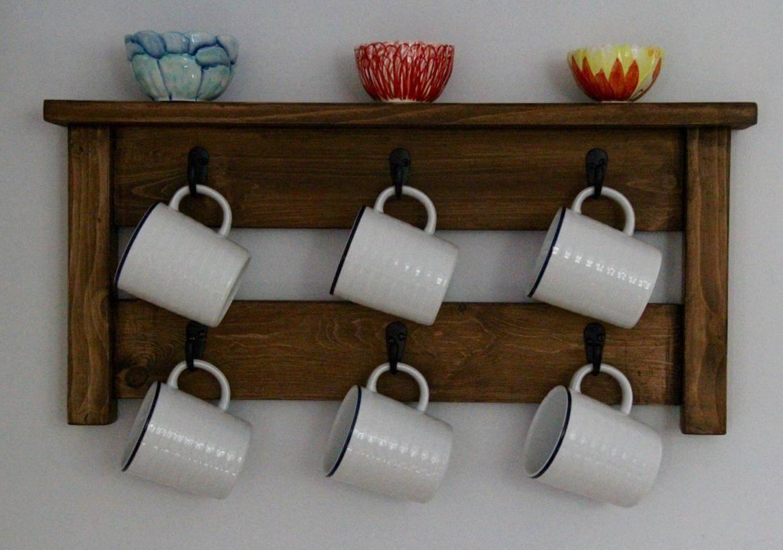 Wall-Mounted Hanging Coffee Mug Rack