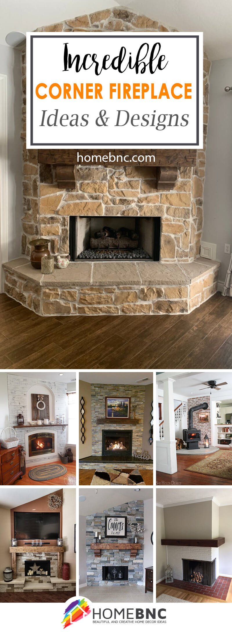 DIY Corner Fireplace