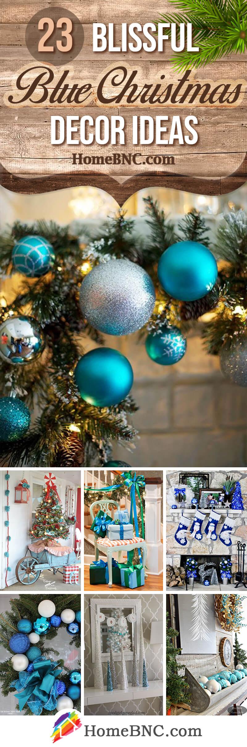 Blue Christmas Decor Ideas