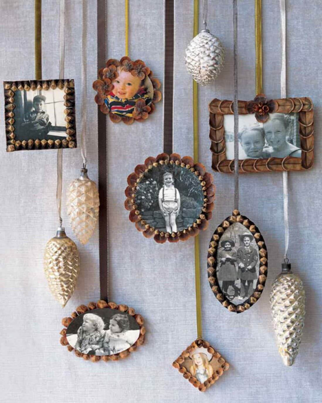 Perfectly Rustic Pinecone Frame Ornaments