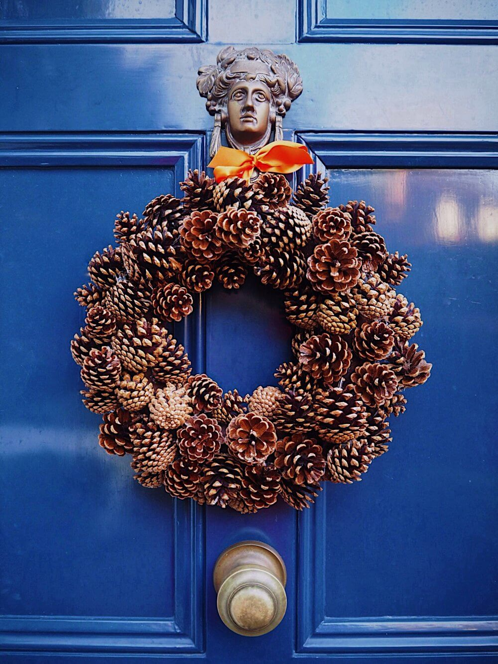Glittery Winter Wreath Packed with Pine Cones