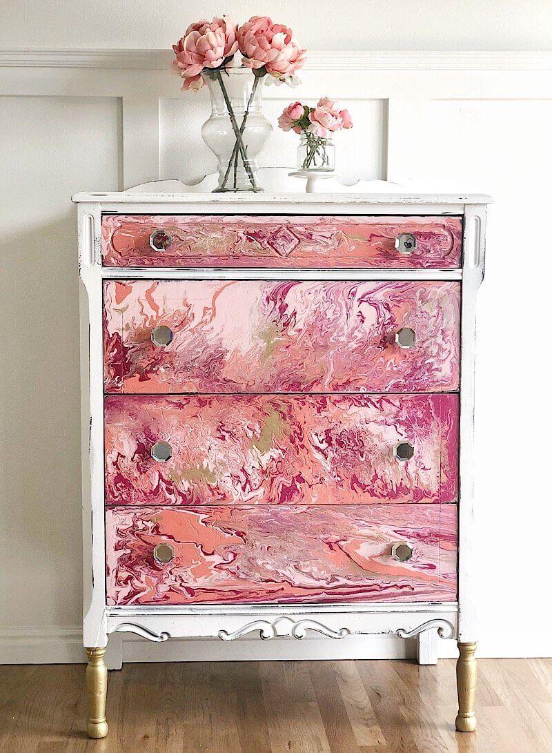 Trendy Paint Pour Furniture Design