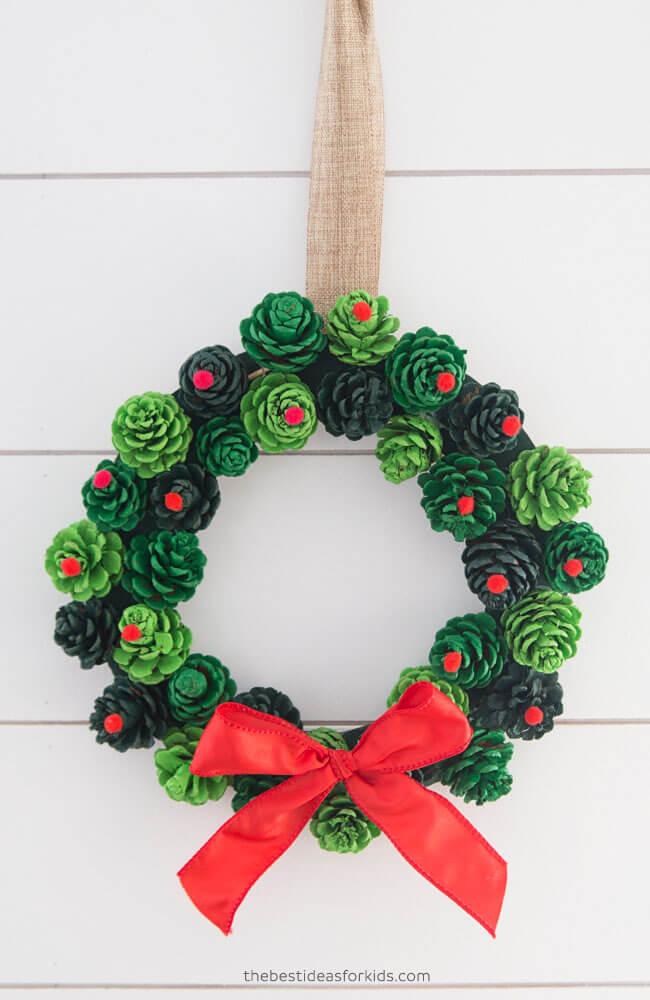 Kid-Friendly Red & Green Christmas Wreath