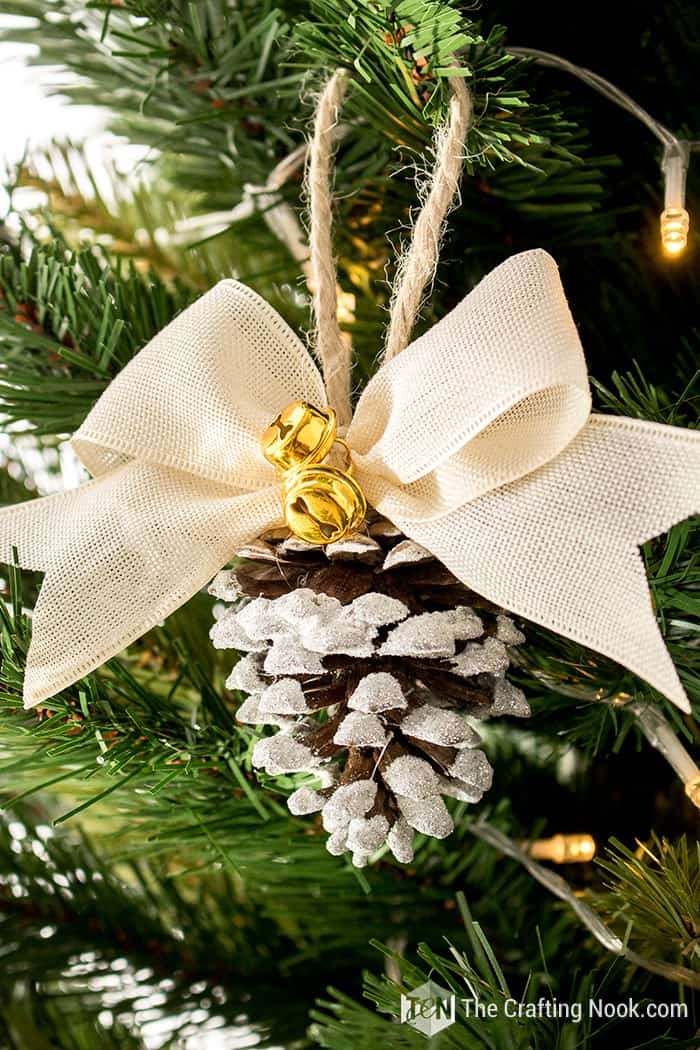 Country Home Snowy Pinecone Ornaments