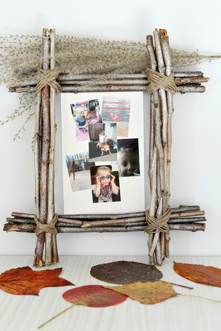 Crafty Rustic Twig Picture Frame