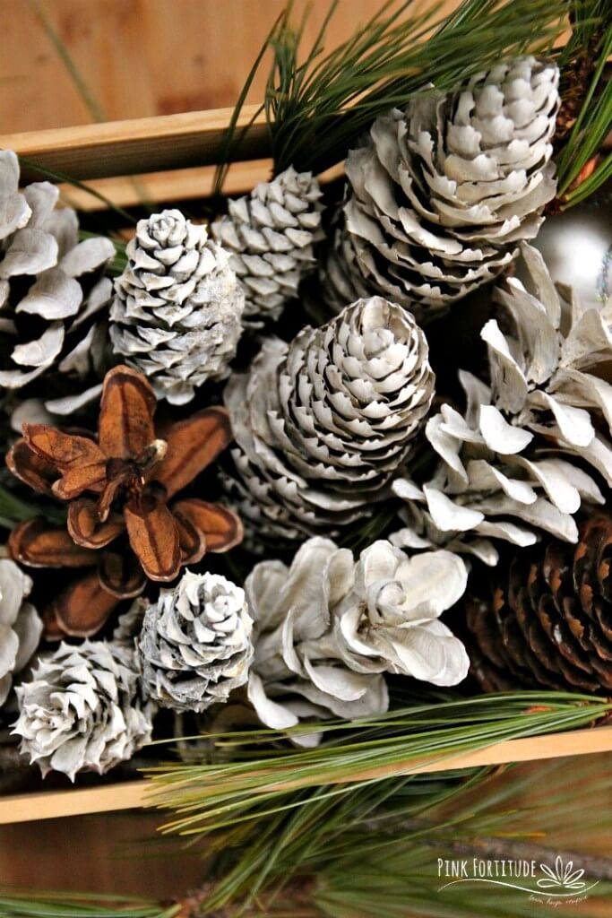 Affordable Frost-Tipped Pinecone Ornaments