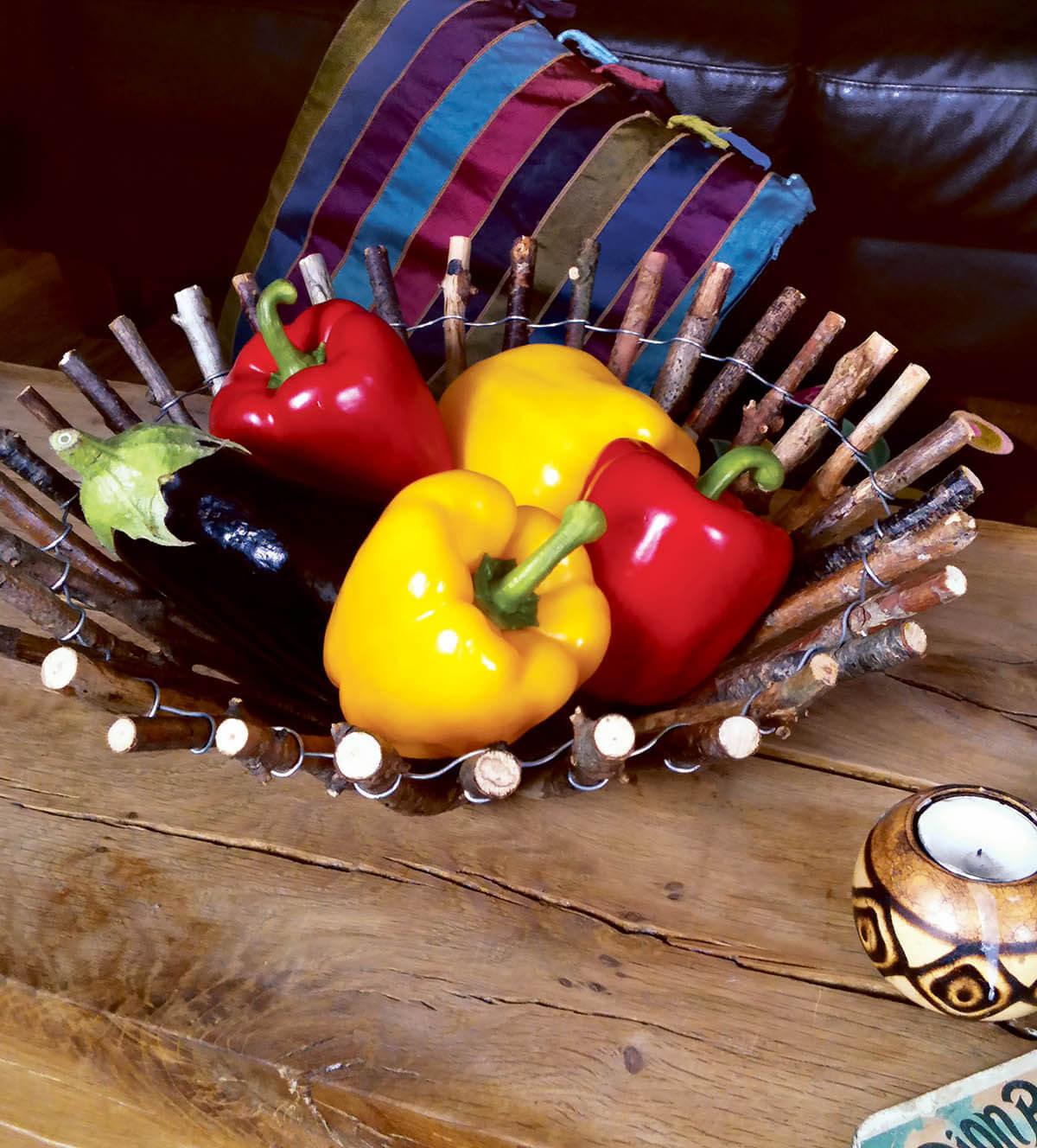 Stick Based Centerpiece Fruit Bowl