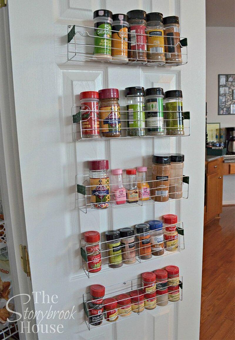 Cheap Pantry Door Spice Rack