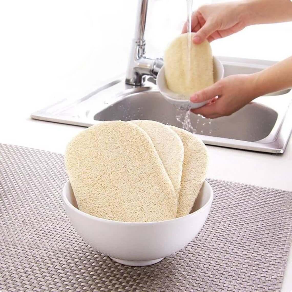 All Natural Loofa Dishwashing Scrubbing Pad