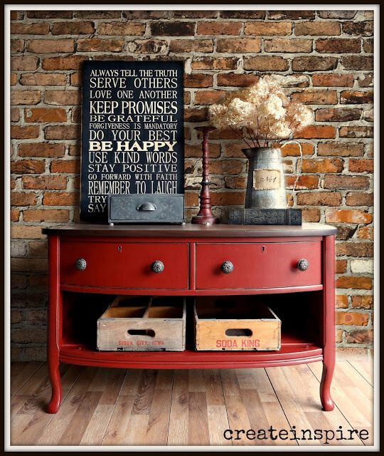 Tuscan Red Painted Classic Lowboy