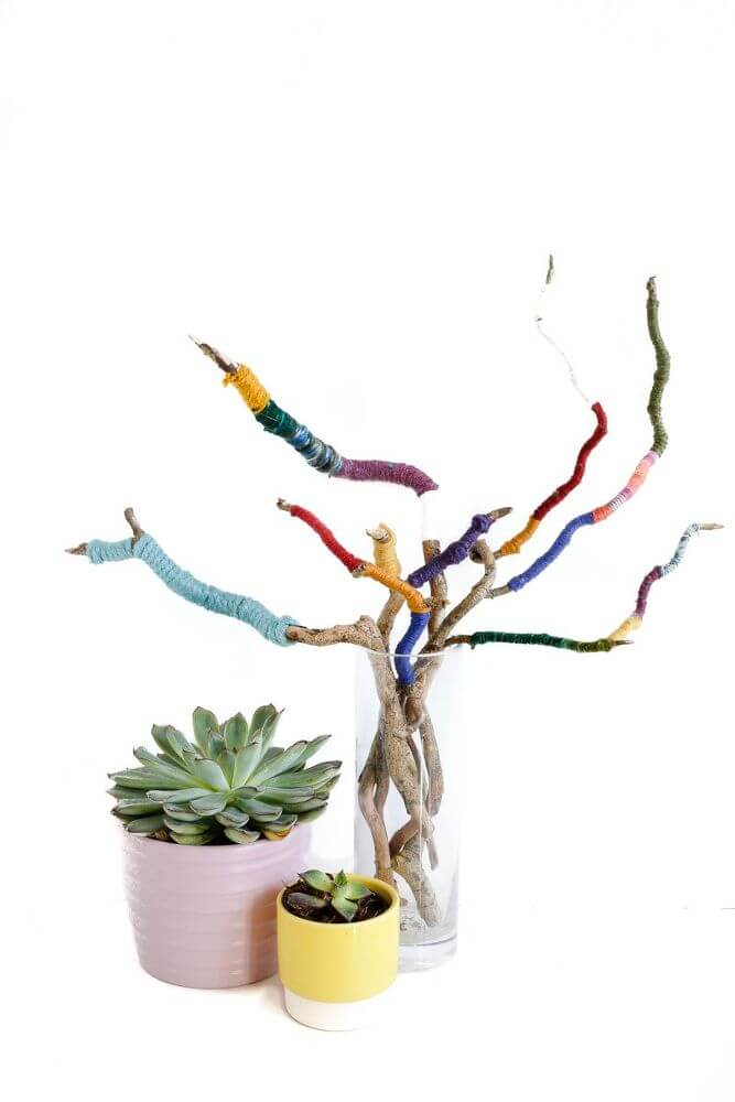 Eccentric Twisted Colorful Twig Bouquet