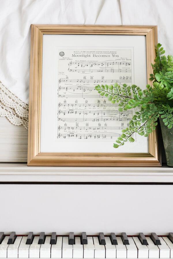 Customized Framed Sheet Music Décor
