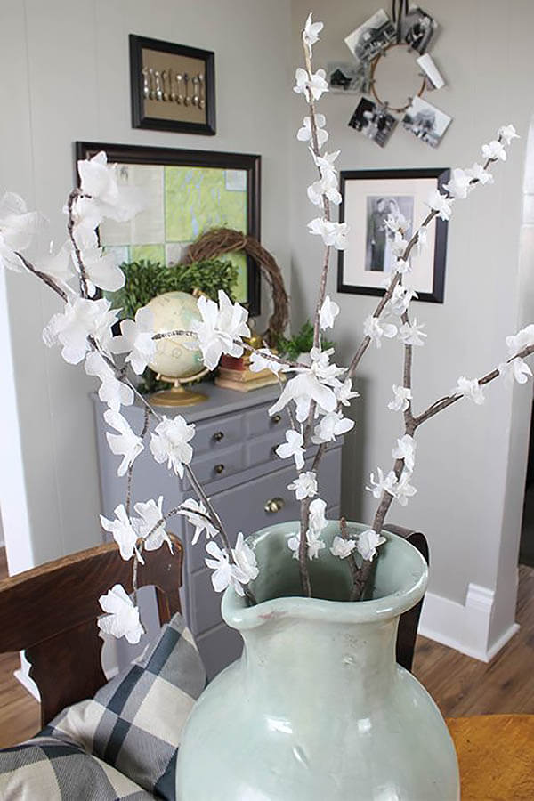 Faux Spring Blossom Branch Bouquet