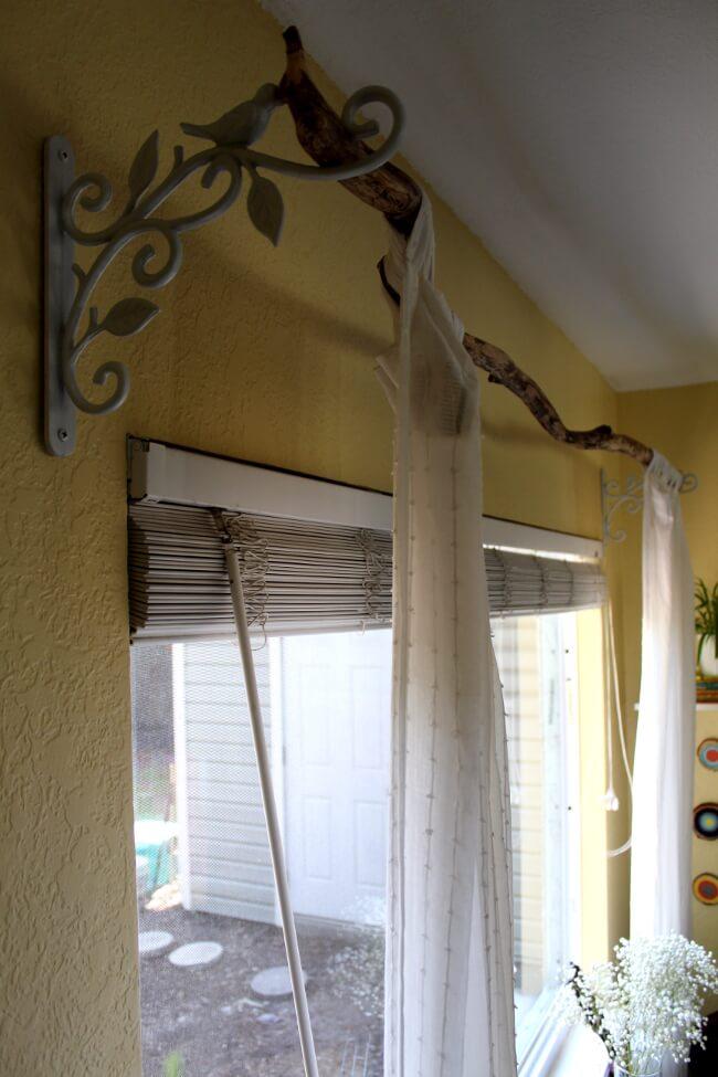 Elegant Tree Branch Curtain Rod