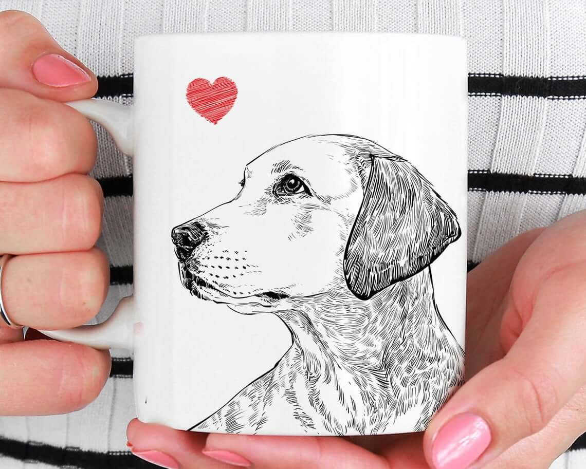 Cool Artistic Pet Portrait Mug