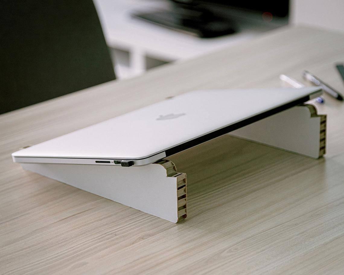 Crafty Cardboard Portable Laptop Holder