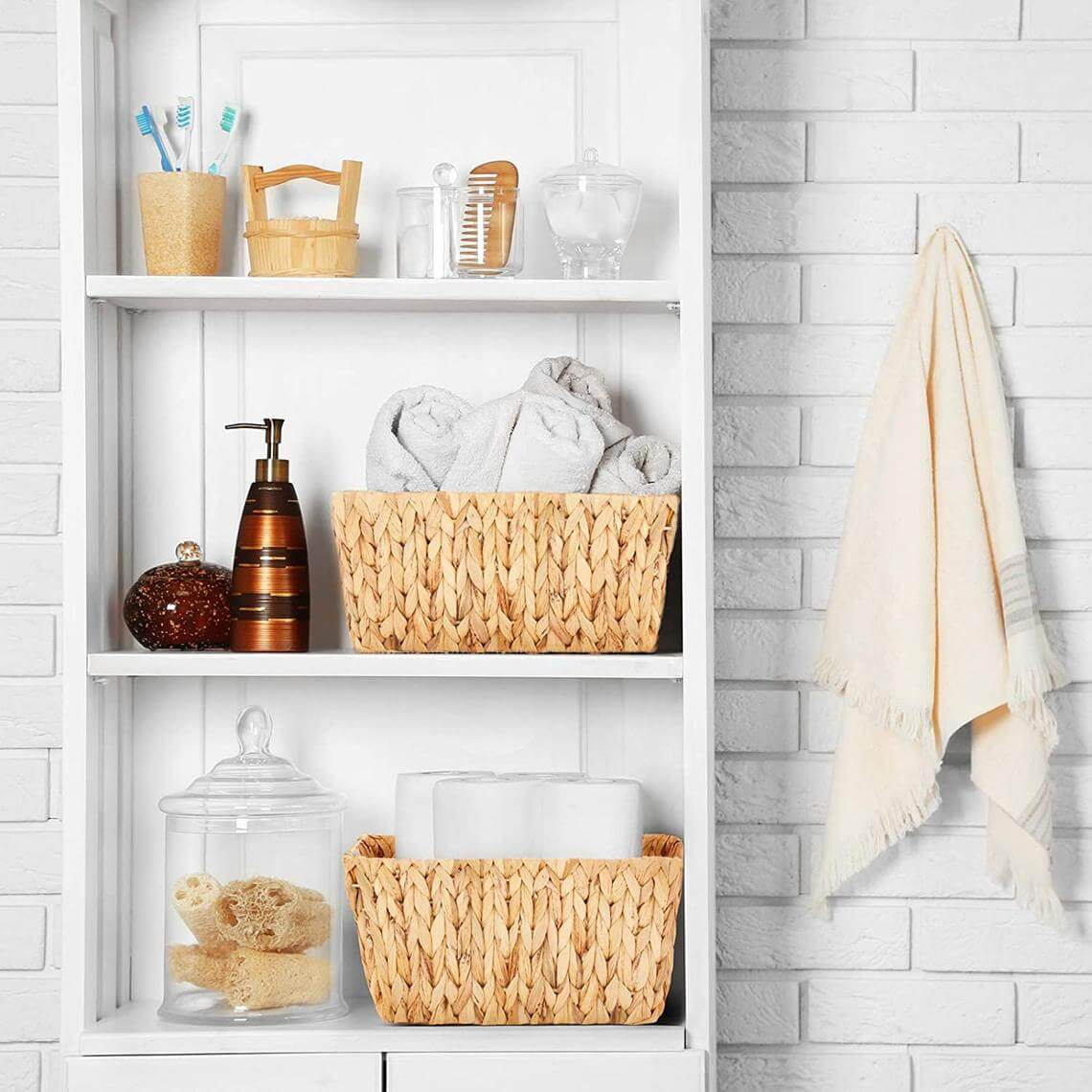 Beautiful Baskets for Bathroom Storage