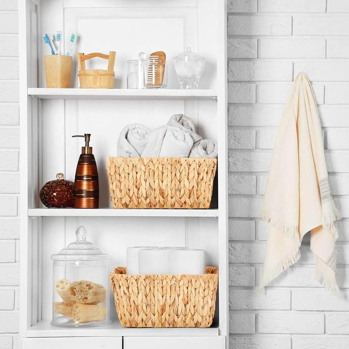 Beautiful Baskets for Bathroom Storage