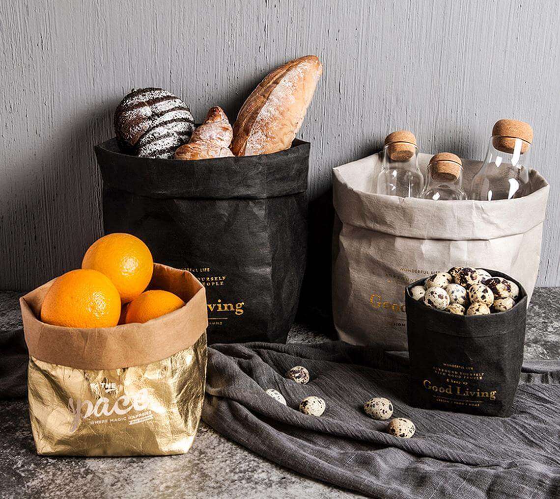 Decorative Craft Paper Kitchen Bins