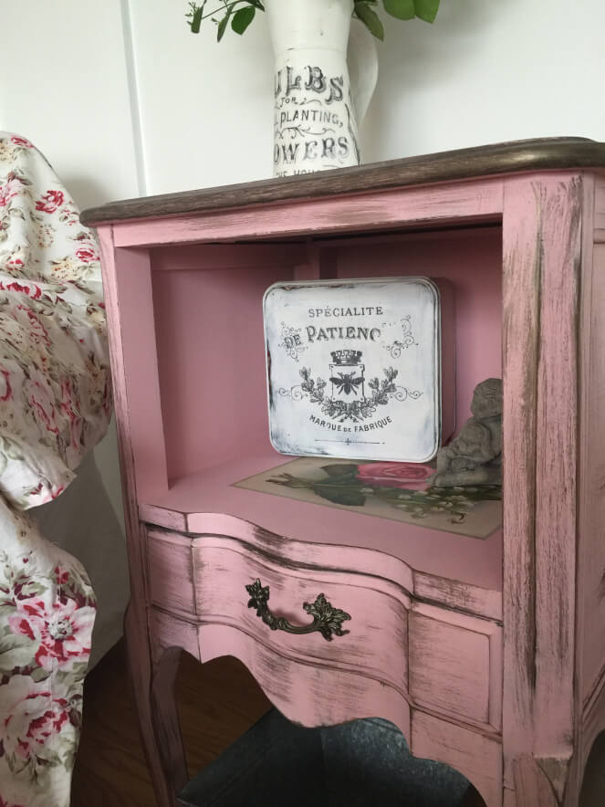 Shabby Chic French Provincial Nightstand
