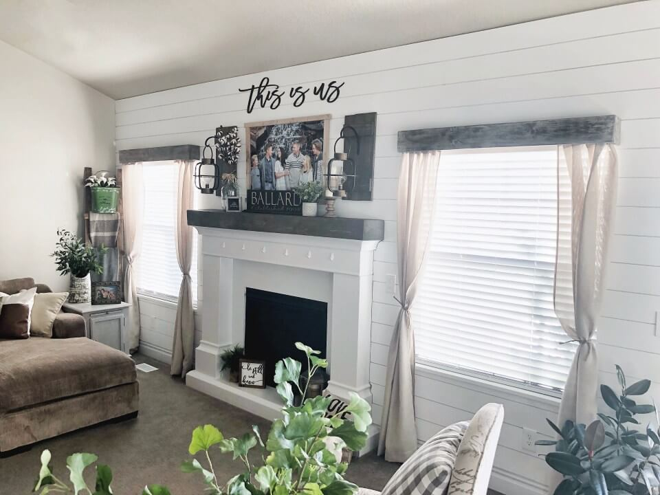 Warm Family-Centered Simple Fireplace Makeover