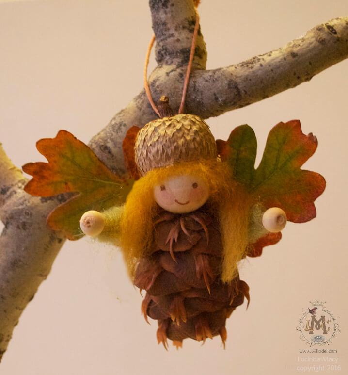 Unique Pinecone Angel Ornaments