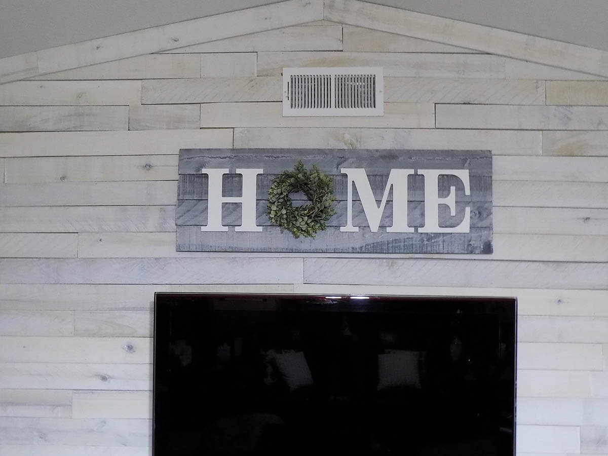 Gray and White Farmhouse Home Sign