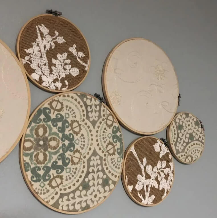 Embroidery Circle Wall Art Wow Factor