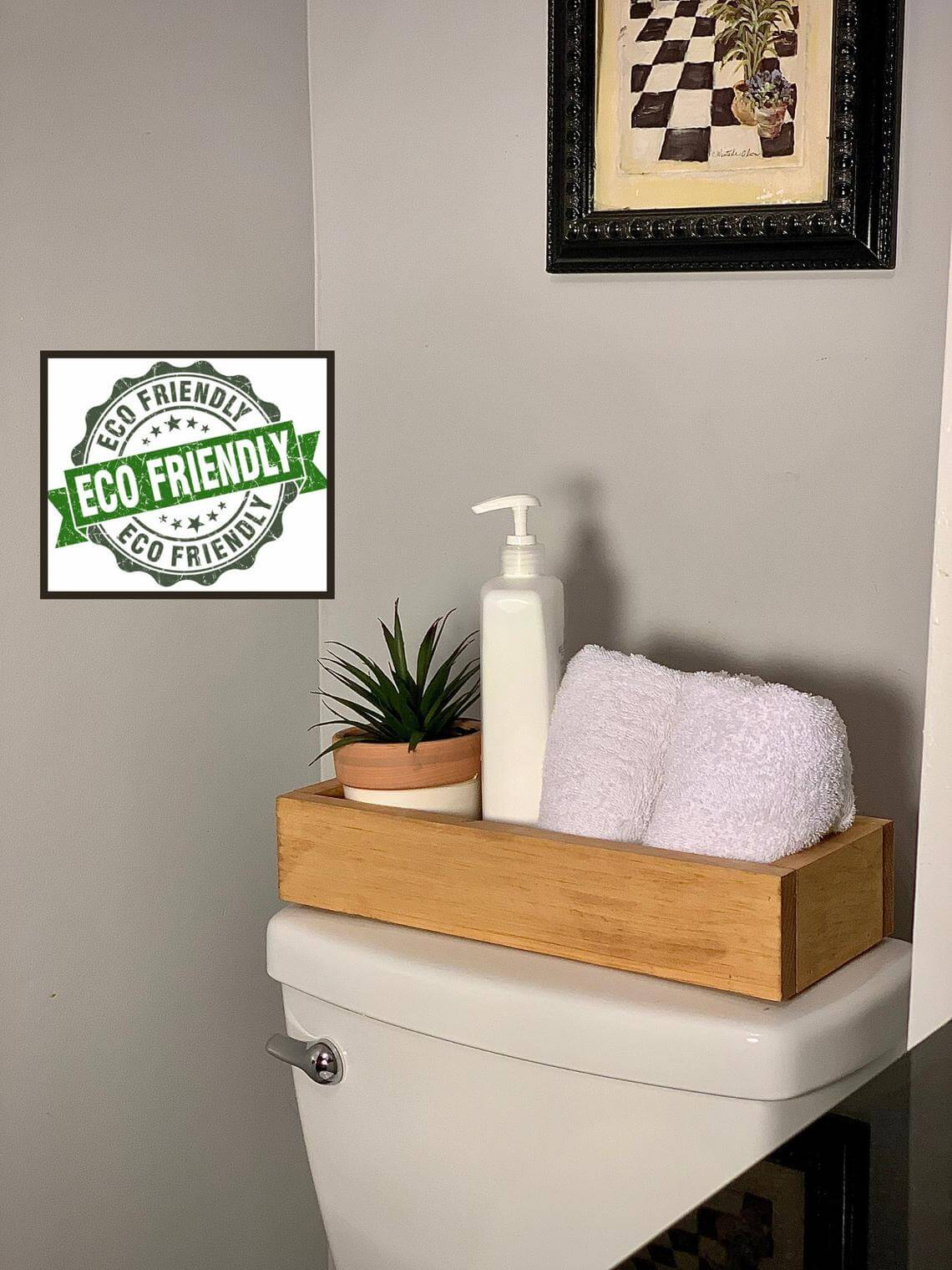 Reclaimed and Water Resistant Decorative Storage Box