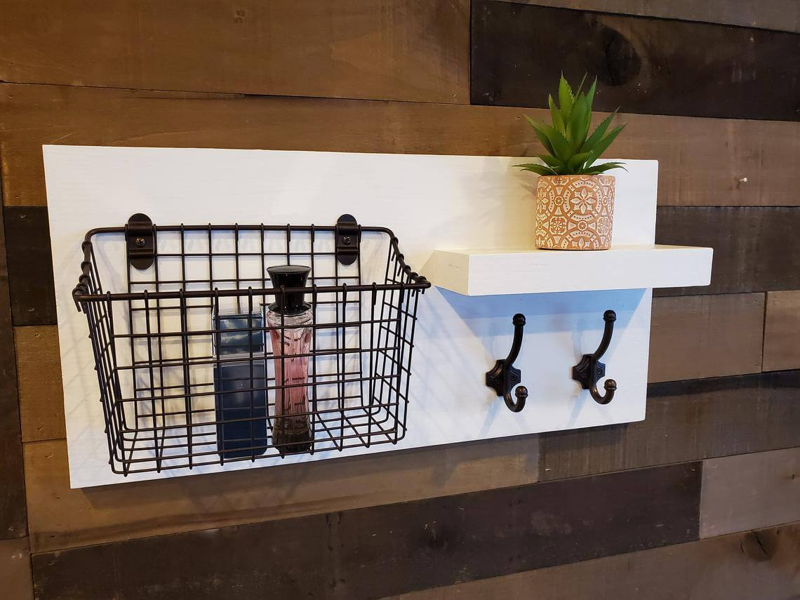 Over the Toilet Storage Station with Hooks